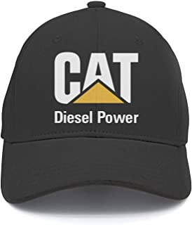 CAT-Caterpillar-Logo-Women Flat Classic Adjustable Mesh Trucker Cotton Baseball Caps Hat