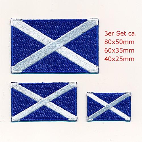Schottland Edinburgh Glasgow Flaggen Flags Patch Aufnäher Aufbügler Set 1062
