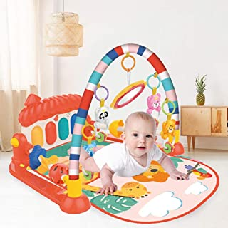 Atrad Baby Play Gym Kick Mat, Infant Piano Gym Game Mat with Music and Sounds - Baby Activity Crawling Extra-Soft Mat for ...