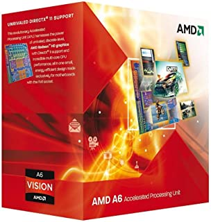AMD A6-3600 APU with AMD Radeon 6530 HD Graphics 2.1/2.4GHz Socket FM1 65W Quad-Core Processor - Retail AD3600OJGXBOX