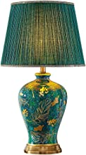CJH Atmospheric Luxury Villa Retro Ceramic Table Lamp Bedroom Bedside Lamp Living Room Sofa Coffee Table Emerald Green Lar...