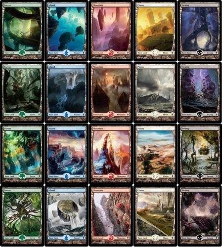 MTG Zendikar 20 FULL ART Land Set MINT