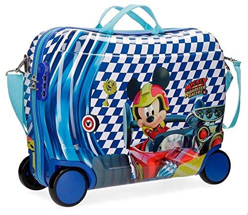 Disney Mickey Race Equipaje Infantil, 50 cm, 34 litros, Multicolor