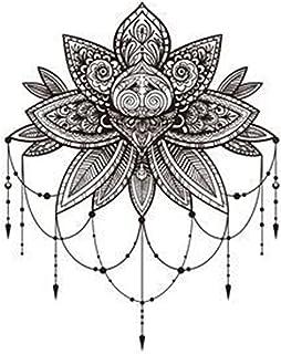 Qqinghan 1 stks Snake Tattoo Sticker Waterdichte Tijdelijke Sticker Geometrische Planeet Tattoo Zwart Tatoeages Body Arm H...