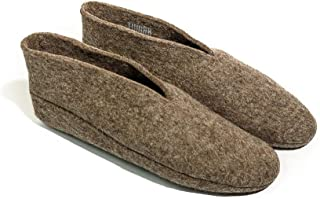 Women Wool Slippers: Natural Warm and Cozy Felt House & Bedroom Booties WOMENS size 9