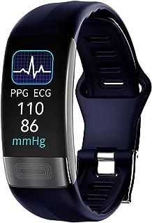 TIANYOU Pulsera Inteligente, Reloj de Banda Inteligente Monitor de Ritmo Cardíaco Ppg Pulsera Presión Arterial Pulsera Impermeable Fácil de Usar: Azul El mejor regalo/Azul