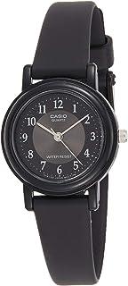 ساعة يد كاسيو للنساء بمينا سوداء من الراتنج، انالوج - LQ-139AMV-1B3LDF