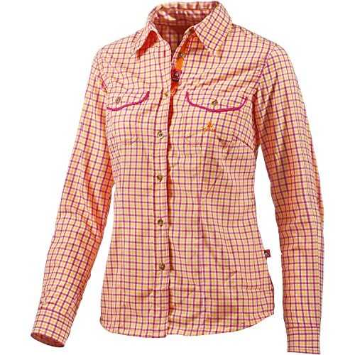 OCK Damen Hemd Bluse langarm, Rot, 34