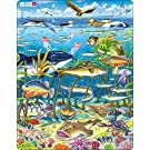 Larsen FH13 Marine Life in the North Atlantic, 60 Piece Boxless Tray & Frame Jigsaw Puzzle
