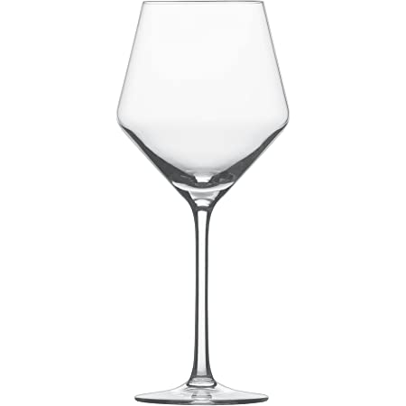 Amazon Com Schott Zwiesel Tritan Crystal Glass Pure Stemware Collection Cabernet All Purpose Red Or White Wine Glass 18 2 Ounce Set Of 4 Wine Glasses