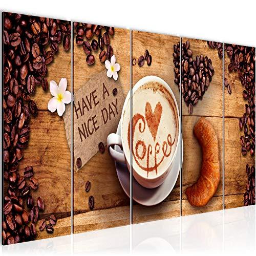 Bild Küche Kaffee Kunstdruck Vlies Leinwandbild Wanddekoration Wohnzimmer Schlafzimmer 501256a