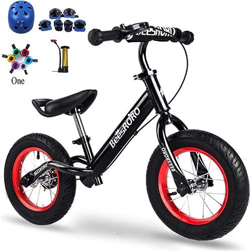 GSDZN - Laufrad   Kinder Laufrad   Balance Bike   Helm Und Schutzausrüstung   Leichtgewicht   2-6 80-120 cm,A-rubberwheel