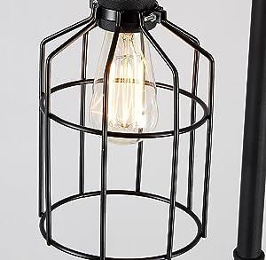 Floor DL Lampadaires Lampadaire, Salon Salle à Manger Vintage Industrielle Vent Tuyau lampadaire Loft Chambre Noire étude Fer lampadaire Taille: 34 * 34 * 164cm Lampe sur Pied