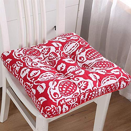 Printing Cushion Tatami Outdoor Chair Home Decor Sofa Pillows Backrest Flower Back Seat Pad Square Stool Seat Cushion Garden Mat (Color : 8, Specification : About 43x43cm)
