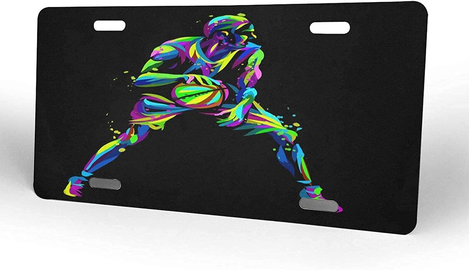 yiliusu Colorful Basketball Player Bargain service License M Plate Cover Novelty