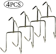 TIHOOD 4Pack Smoker Hooks, Stainless Steel Bacon Hanger, Roast Duck Hooks,Meat Hooks for Smoking, Hanging Bacon Hams Meat Processing BBQ Grill