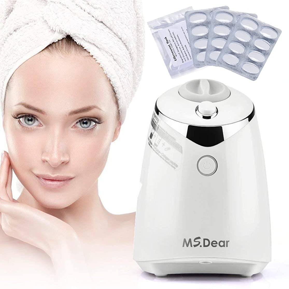 MS.DEAR Facial Mask Maker Machine, Collagen Fruit Vegetable DIY Automatic Face Mask Making, with 32 Counts Collagen Pills rmznkysx4