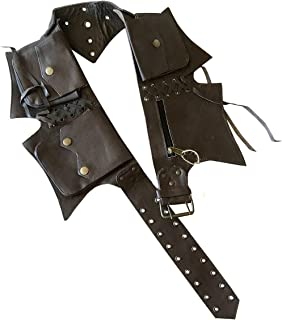 Leather Utility Belt | 5 pockets | travel, festival, cosplay, hip bag, fanny pack