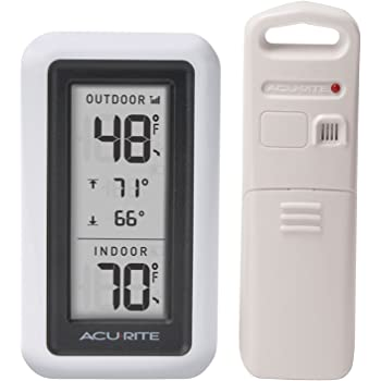 AcuRite 00424CA Digital Thermometer with Indoor/Outdoor Temperature