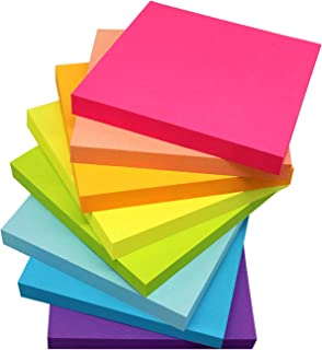(8 Pack) Sticky Notes 3x3 Inches,Bright Colors Self-Stick Pads, Easy to Post for Home, Office, Notebook, 8 Pads/Pack