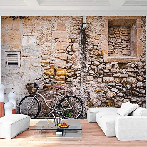 Premium Fototapete Steinwand 396 x 280 cm - 9 Bahnen- Vliestapete -Modern jedes Zimmer - Wand Dekoration - 3D Tapete aus Vlies 9038812a
