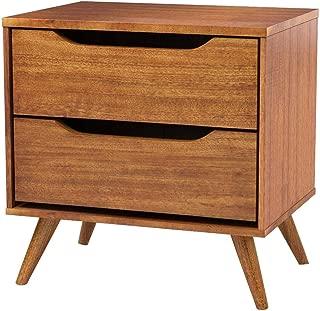 """Furniture of America CM7386A-N Lennart Oak Nightstands, 24"""" H"""