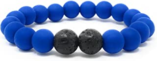 """Leboha """"Kids Collection Kid Essential Oil Bracelet, Silicone Beads With Lava, 6"""""""