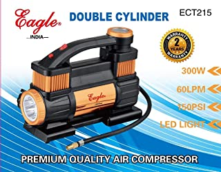 EAGLE - Heavy Duty Double Cylinder AIR Compressor for Cars/Trucks (300 W) (ECT-215)