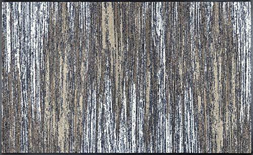 wash+dry Fußmatte, Scratchy beige 75x120 cm, innen und außen, waschbar
