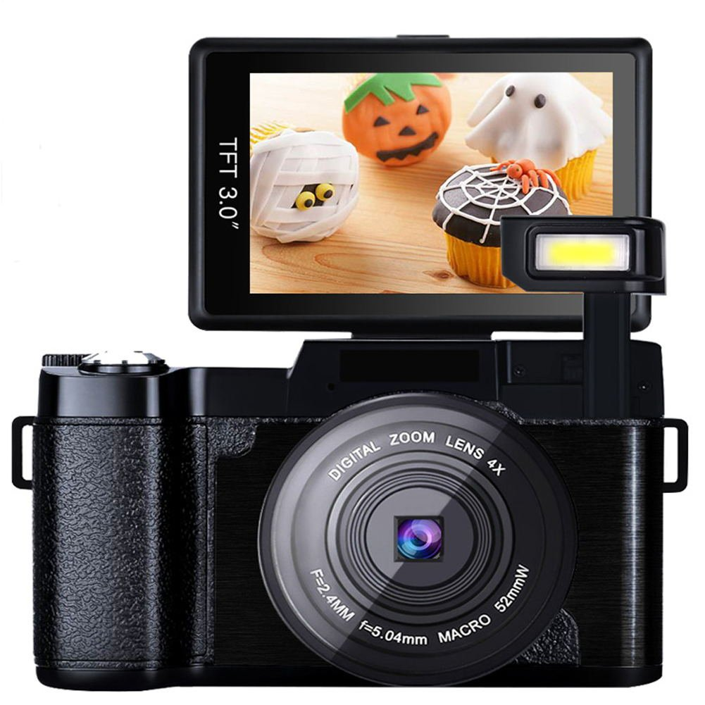 Digital Vlogging Retractable Flashlight Camcorder