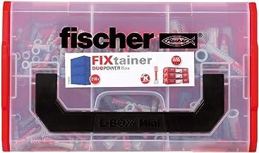 fischer Fixtainer - pluggenbox met DUOPOWER universele pluggen assortiment - voor talrijke bouwmaterialen en veelzijdige t...