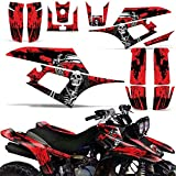 Warrior Parts & Accessories - Wholesale Decals ATV Graphics kit Sticker Decal Compatible with Yamaha Warrior 350 All Years - Reaper V2 Red