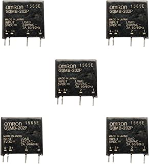 Comimark 5Pcs G3MB-202P DC-AC PCB SSR in 5V DC Out 240V AC 2A Solid State Relay Module
