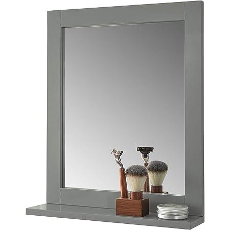 SoBuy® FRG129-SG Miroir Mural Meuble Salle de Bain avec 1 étage Plateau