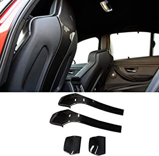 YOUC Carstyling 4 pcs/Set Carbon Fiber Back seat Cover for BMW M3 F80 M4 F82 2014+