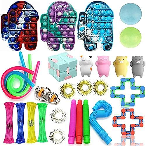 Fidget Toys Toys Relieve Toys for Focus Calm Toy Box Party Favor Fidget Pack Bolsa reutilizable