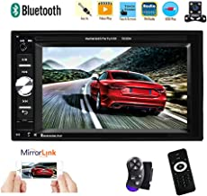 بلوتوث داخلی بلندگو استودیو Podofo Double Din با بلندگو + بلندگو 6.2 اینچ ماشین لمسی صفحه نمایش دستگاه رادیویی درون داش با کنترل چرخ فرمان ، کمک پارکینگ اتومبیل / TF کارت / FM / پیوند آینه