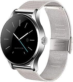 YZY Reloj Inteligente de la versión 2019, Pulsera Actividad con Control de Voz del Monitor de frecuencia cardíaca, Pulsera Delgada con Reloj de podómetro para Hombres y Mujeres