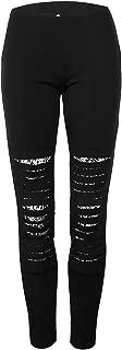 Women's Juniors Distressed Fishnet Denim Slim Fit Ripped Jeans Leggings Pencil Pants