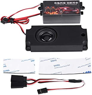 Dilwe RC Car Engine Sound Simulator, Remote Control Car Sound Engine Simulated Module Set with 1 Speaker for 1/10 Vehicle Cars Model(One Speaker)
