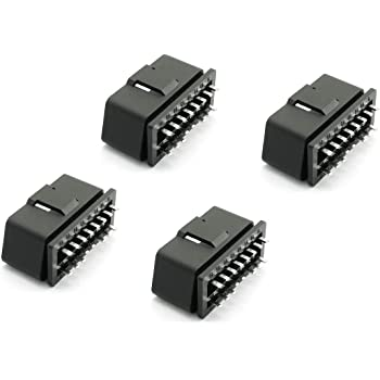 OBD2 Plug 16PIN OBDII Male Connector LITOON Universal OBD//E-OBD Plug Adapter OBDII Diagostic Tool