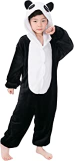 5d64609006c59 YAOMEI Enfant Kigurumi Combinaison Pyjama Onesies, Fille Garçon Fleece  Anime Cosplay Halloween Noël Fête Costume
