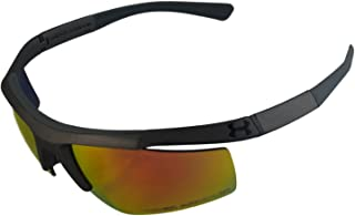 UA Core Satin Gray Frame Orange Mirror Lenses Men's Sport Sunglasses