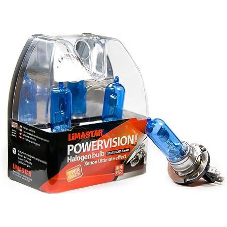 Set Of 4 Halogen Lamps Lima Star Socket Pgj23t 1 H15 6000 K 15 55 W Xenon White 12 V Auto