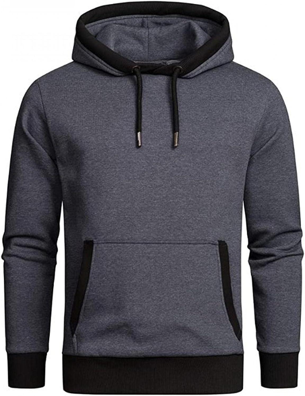 Huangse Men's Color Block Hoodie Fashion Unisex Hooded Sweatshirt Casual Long Sleeve Hip Hop Pullover Hoodies