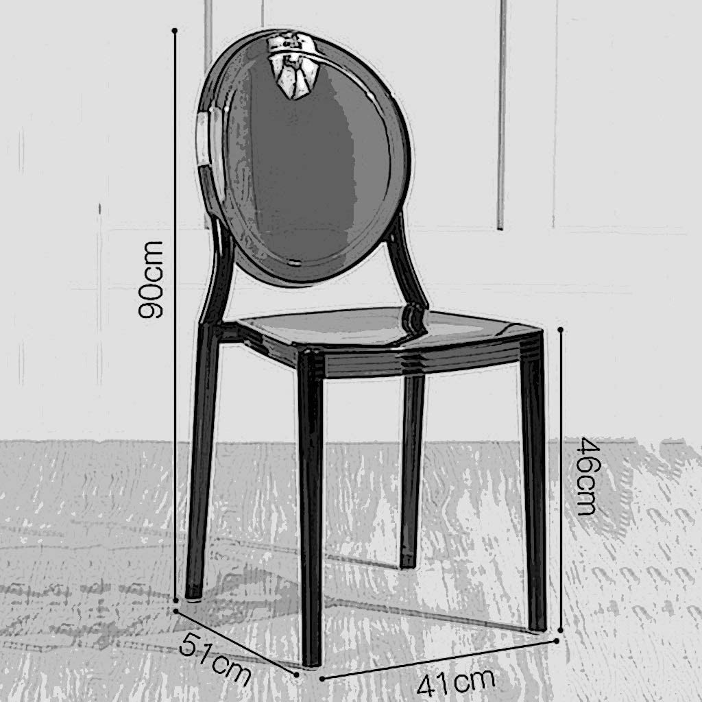 Chaise À Manger Transparente De Style Européen De Meubles De Maison, Fauteuil De Créateur Moderne, Chaise De Loisirs De PVC FENPING (Color : Brown) Brown