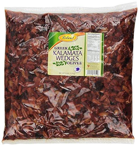 Roland Olives, Greek Kalamata Wedges, 5 Pound