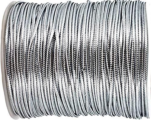 4mm Round Cord, Metallic Silver Cord (Price Per 20 Yards)