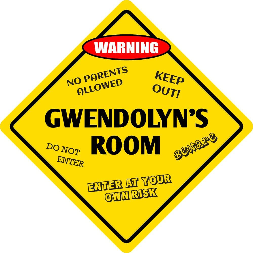 Sign Wall Signboards Poster Decor - Gwendolyn's Room San Diego Mall Aluminum Direct stock discount Ki