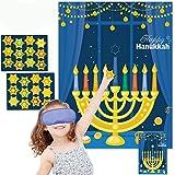 Funnlot Hanukkah Decorations Chanukah Activities Hanukkah Games Pin The Star On The Menorah Game Hanukkah Party Games Chanukah Party Decorations 24 Reusable Stars Happy Hanukkah Games Hanukkah Decor